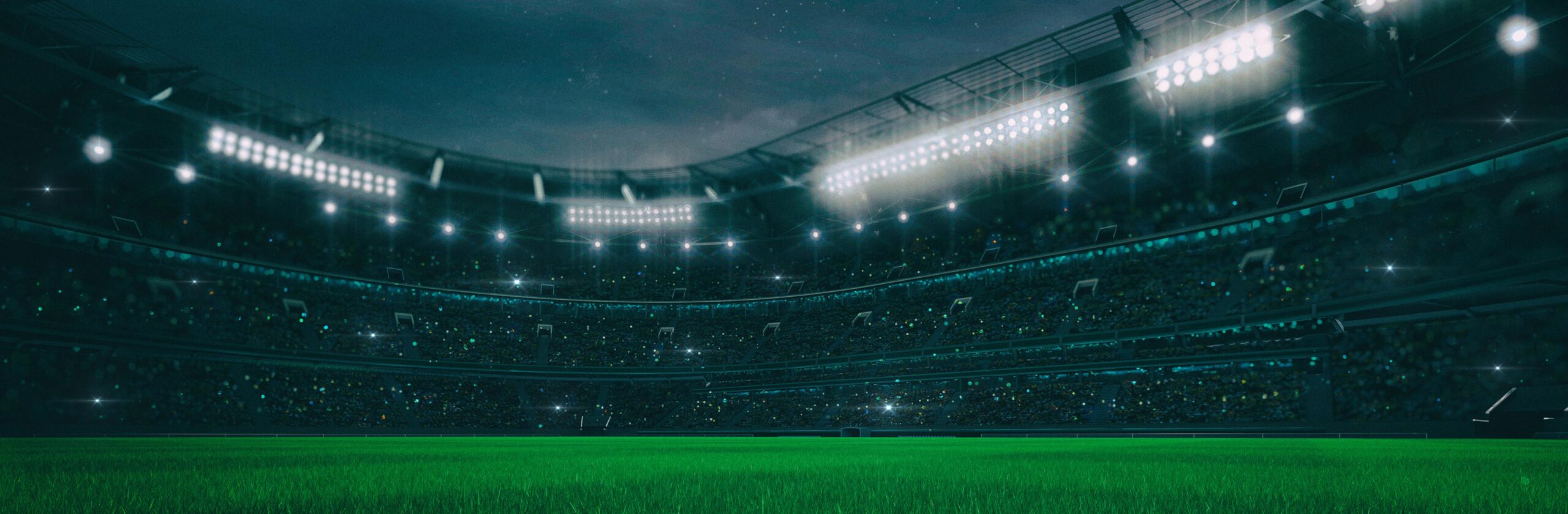 Digital 3D illustration of Sport stadium at night